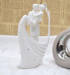 Cake Toppers Blanc Gâteau De Mariage Romantique Topper Mariée Et Le marié Résine Figurine Peint À La Main De Mariage Gâteau De Poupée Européen Gâteau De Mariage Créatif ? partir de fabricateur