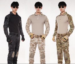 Wholesale Python Jacket - wholesale 2pcs   set Meuzac Special forces Tactical Jacket Sets Clothing frog Tights Camouflage outdoor GEN2 pants Python acu training Fight