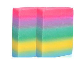 Wholesale Whitening Beauty Soap - New Pure Handmade Soap Whitening Skin Anti-aging Oil-control Body Beauty Lightening rainbow Cleaning Soap Anti Dark Spot