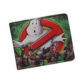 Wholesale Antique Grey - Antique Classic Cartoon Movie Wallet GHOSTBUSTERS Wallet Ultra Slim Leather Bifold Men Money Bag GHOST BUSTERS Purse ID Credit Card Holder