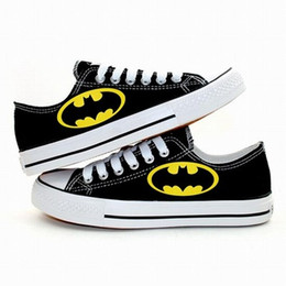 Wholesale Fashion Sneakers Cartoons - New Arrival Cartoon Batman Logo Canvas Shoes,Outdoor Leisure Fashion Sneakers,Unisex Casual Shoes Hot Items
