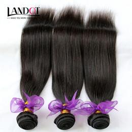 Wholesale Cheap Ombre Hair - Virgin Brazilian Hair Straight 100% Human Hair Weaves Extensions Cheap Peruvian Malaysian Indian Cambodian Mongolian Remy Hair 3 4 5 Bundles