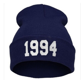 Wholesale Cheap Skull Top For Women - Wholesale Retail Cheap 1994 Justin Bieber Beanie Sale Winter Knitted Hat For Men Women Caps Casual Skullies Hip-hop Many Colors