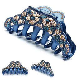Wholesale acrylic hair claw clip - High Quality Expensive rhinestone headband acrylic clip for wedding fashion jewelry party hair claw free shipping