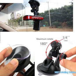 Wholesale Car Camera Suction Cup - Car recorder Tachograph mount GPS navigation DVR Holders DV mini stents cameras, surveillance bracket with suction cup base