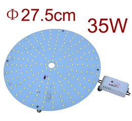 Wholesale Led Ceiling Disc - Wholesale- Wholesale 4PCS 220V 35W Retrofit LED Ceiling Lights Board Replacement 2D LED Lamp LED Disc Plate Lights CFL lamps