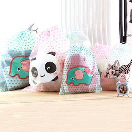 Wholesale Travel Bag Panda - Wholesale-New Waterproof Durable Cartoon panda cute Makeup Bath Cosmetic Toiletry Travel Toothbrush Pouch Bag Organizer Case BU27
