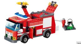 Wholesale Fight Set - Fire Fight Series Fire Engine kid Building Block Sets Model Enlighten Educational DIY Construction Bricks Compatible