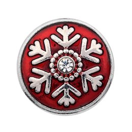 Wholesale Snowflake Buttons - hot sale Noosa chunks crystal rhinestone enamel snowflake buttons snaps jewelry for leather bracelets