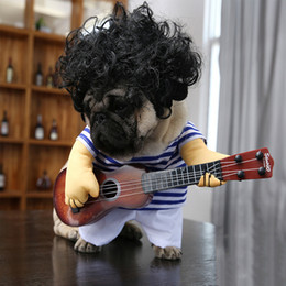Wholesale French Halloween Costumes - Guitar Dog Clothes for Dogs Costume Funny Pet Halloween Costume Puppy Outfits Pet Clothing Pug French Bulldog Outfits
