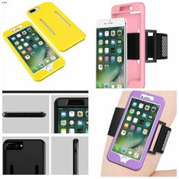 braço de correia Desconto Para iphone x 8 7 / plus / 6 6 s / se 5 5s esporte faixa de braço + macio tpu híbrido case slot caixa de silicone belt braçadeira gel peles