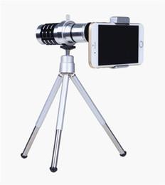 Wholesale Telephoto Universal 12x - 12x Mobile Phone Lens Universal 12X Zoom Telescope Camera Telephoto Lens for iPhone Zoom Telescope Magnifier Optical Lens 12X