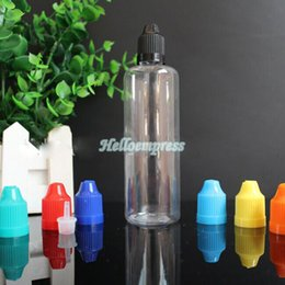 Wholesale Clear Pet Bottles - Wholesale 100ml Plastic E-cig E-liquid Dropper Bottle PET Bottle With Colorful Childproof Cap Long Needle Tip 100ml Clear Empty Bottle