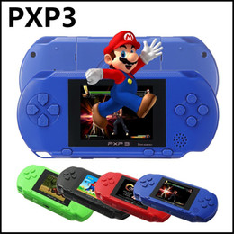 Wholesale Wholesale Video Consoles - New Arrival Game Player PXP3(16Bit) 2.5 Inch LCD Screen Handheld Video Game Player Console 5 Colors Mini Portable Game