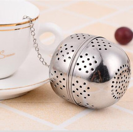 Wholesale 4cm Ball - 4cm Spice Egg Shaped Silver Stainless Steel Seasoning Ball Teakettles Strainer Tea Filter Locking Teapot Drinkware Tools CCA6979 1000pcs