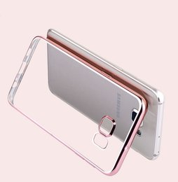 Wholesale Gold Plated S4 - Ultra Thin Rose Gold Plating Crystal Clear Case For Samsung Galaxy S3 S4 S5 S6 S6 Edge S6 edge plus Luxury Transparent Soft TPU Cover