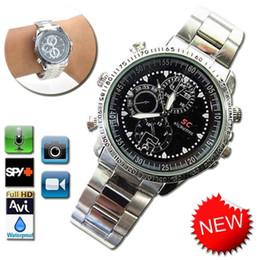 Wholesale 8g Watch Dvr - 3 Model Waterproof 8GB Mini Watch Camera HD Spy Wrist Watch 1280*960 Hidden Camera DVR Camcorder Video Recorder