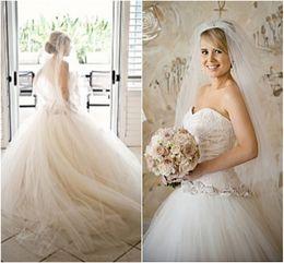 dreamlike wedding dress prices - Vintage Dreamlike Wedding Dresses Ball Gown Sweetheart Bodice Corset Lace Bridal Dress Full Tulle Skirt Free Long Bridal Veil Ivory