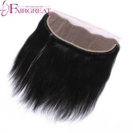 Wholesale Straight Lace Closure Dark Brown - Grade Indian Human Hair Dark Brown Lace Frontal Closure Indian Human Hair 13X4 Ear To Ear Lace Frontal