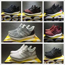 Wholesale Real Lights - Ultra Boost 3.0 Running Shoes Real Boost Triple White Black Oreo CNY Blue REIGNING CHAMP Black Rainbow Men Women UltraBoost Sports Sneakers