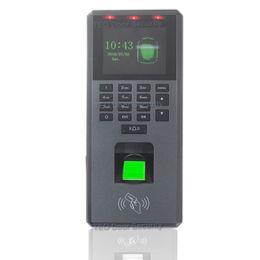 Scanner biométrico de impressões digitais on-line-3000Users Fingerprint Fingerprint Reader RFID Controle de Acesso Teclado Biométrico com Tela Colorida Uma Vez Dedo para Scanner Biométrico