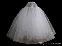 Wholesale Tulle Wedding Dress Slips - White Short Tulle Wedding Petticoat Bridal Slip For Wedding Dress EM01002