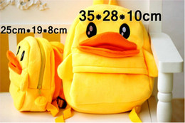 Wholesale Shoulder Bag Duck - New Style yellow Duck plush Backpacks Duck stuffed plush toys doll Children's schoolbag plush Shoulders Bag kids toys