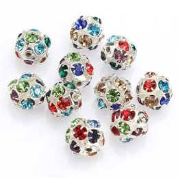 Wholesale Crystal Rondelle For Jewelry Making - Rondelle Rhinestone Crystal Silver Golden Spacer Beads for Stud Earring For Women Fashion DIY Jewelry Making