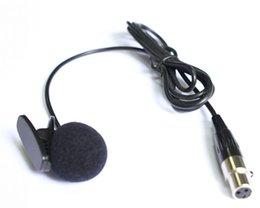 Wholesale Condenser Microphone Xlr - WM06 Top Quality generic Cardioid Lapel Tie Clip-on Lavalier Condenser Microphone Mini XLR 3PIN 50 pieces