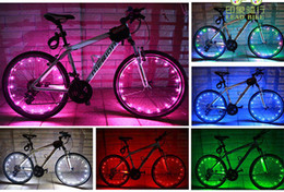 Wholesale Rechargeable Led Light Strips - 2M LED String Lights USB Rechargeable LED Bicycle Wheel Tire Light Motorcycle Light Strip Waterproof LED Spokes Light Cycling Cool #18