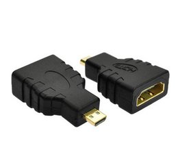 Wholesale Usb Female Hdmi - Wholesale 300Pcs lot HDMI Female to Micro HDMI Type D Male Adapter F M Converter Connector HD TV Camera for hdmi adapter