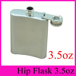 Wholesale Mini Flask Oz - 2016 NEW HOT Portable 3.5oz Stainless Steel Flagon 3.5 Ounce Hip Flasks Carry Stoup Whisky Liquor Alcohol Pocket Hip Flask 3.5 oz Wine Pot