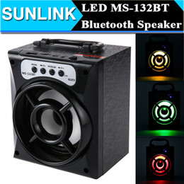Wholesale Powerful Bluetooth Mini Speaker - MS-132BT LED Light Big Portable Bluetooth Wireless Speaker Bass Powerful Subwoofer Outdoor Music Playing Box USB TF FM Radio Speaker