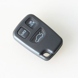 Wholesale Volvo Remote Key Case - High quality auto replacement remote key shell 3 button key blank FOB Case VOLVO C70 S40 S60 S70 S80 S90 V40 V70 V90 XC70 XC90