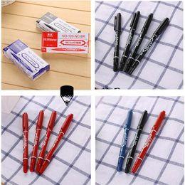 Double stylos de marquage à l'encre de tête de haute qualité marqueurs de peinture marqueur de la ligne stylo pour l'écriture logistique papeterie fournisseur en gros 0006STD ? partir de fabricateur