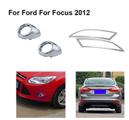 Wholesale Cover Rear Fog Light - Free shipping CHROME front fog lamps+TAIL Rear FOG LIGHTS LAMP FRAME COVER TRIM 2012 FOR Ford Focus 3