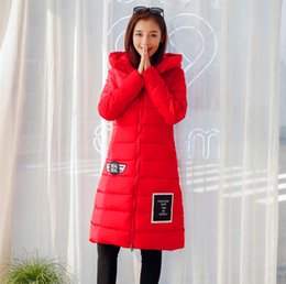 Wholesale Over Coat Jacket - 2016 autumn and winter new women 's cotton long paragraph over knee down jacket large yards thick coat