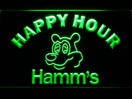 Wholesale Happy Hour Signs - 645 Hamm's Beer Happy Hour Bar LED Neon Sign with On Off Switch 7 Colors to choose