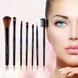 Wholesale Professional Blush Brush - Wholesale- 7pcs kits Makeup Brushes Professional Set Cosmetics Foundation Brush Face Blush Eyeliner Brushes Makeup Set free shipping