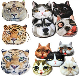 Wholesale 3d Business Cards Wholesale - Creative Funny Coin Wallet 3D Cat Cloth Purse Female Mini Coin Bag Children Toys Purses Women Clutch Wholesale