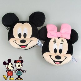 Wholesale Cartoon Games For Girls - New cartoon 12cm Minnie Mickey Plush Toys for Kids Coin Purses Bag Pendant Kids Girls Gifts