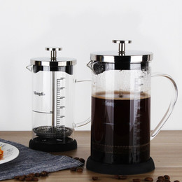 Wholesale Head Pulls - Multi Function Teapot High Temperature Resistant Glass Coffee Press Pot Safe Stainless Steel Pull Rod Head Tea Infuser 29fy B