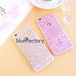 Wholesale iphone cases 3d crystal wholesale - For iphone 6s Luxury Shiny 3D Diamond Glitter Transparent Crystal Case Rubber Protective Cover Soft TPU Cover for iphone 6 plus 5s