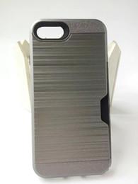 Wholesale Lenovo Metal Case - For Motorola Moto E4 Newest G4 Plus Huawei P9 Lite Lenovo A2010 K5 Plus Card Pocket Polish Hybrid Case Brushed Metal Armor Cover