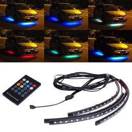 Wholesale Led Chassis Lights - Wholesale- DC12V 18-LED Automotive Atmosphere Lights Car Lnterior Light String 5050SMD Car Chassis Light 24-key Remote Control Free Post