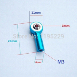 Wholesale Wholesale Rc Buggies - 16pcs Aluminum M3 Link Rod End Ball Joint for 1 10 RC Car, Truck, Buggy Crawler+ joint boot