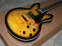 Wholesale Cheap Hollow Body Guitars - (More Color Choose) Hollow Body 335 Jazz Guitar Electric guitars High Vos Cheap free shipping