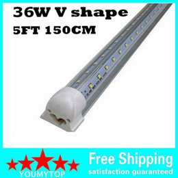 Canada T8 en forme de v intégré led tube lumière 5FT 36W porte du refroidisseur a conduit des lampes fluorescentes à double lueur lampe d'éclairage 1.5m Offre