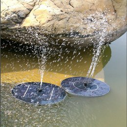 Wholesale Fountain Ponds - New solar Water Pump Power Panel Kit Fountain Pool Garden Pond Submersible Watering Display with English Manaul