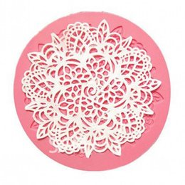 Wholesale Silicone Lace Mats - Silicone Lace Fondant Mat Mold Sugar Candy Cake Decorating Mould Baking Tool Hot H1187